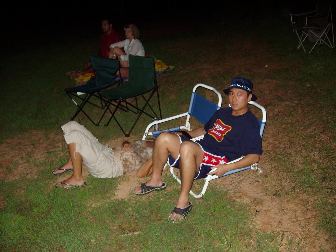 Sondra and Dean watch fireworks