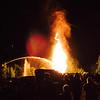 Large crowd gathers for the Annual Bonfire, Ashby, MA <br /> Photo: John Bilotti