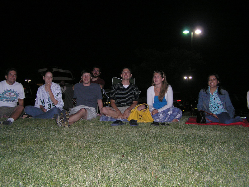 Waiting for fireworks:<br /> Sean, Kay, Jordan, Seth, Jake, Theresa, Sharna