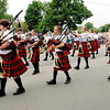 Don Knight | The Herald Bulletin<br /> The Anderson High School Marching Highlanders march in the Chesterfield 4th of July Parade on Monday.