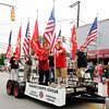 Don Knight | The Herald Bulletin<br /> Members of the Mounds Detachment of the Marine Corps League ride in the Chesterfield 4th of July Parade on Monday.