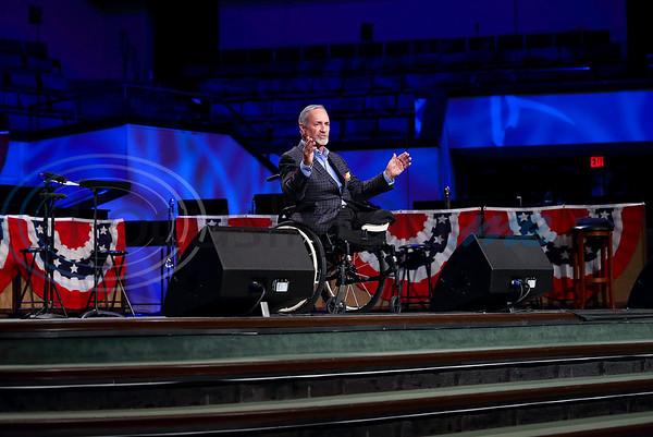 "Green Acres Baptist Church, had a ""Celebrate Freedom"" worship service Sunday featuring Vietnam Veteran Evangelist Tim Lee. (Lang White / Correspondent)"