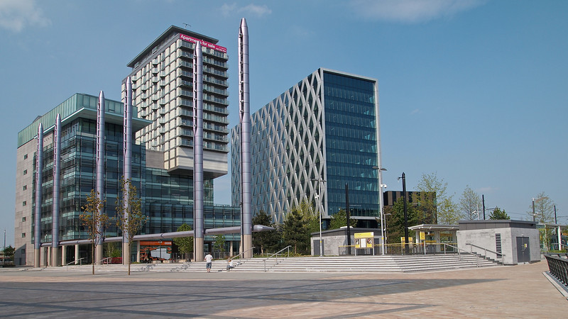 Media City and its Metrolink Station