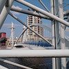 The Lowry Bridge, framed by teh Lowry Bridge