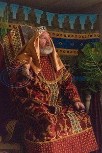 Curtis Wilson, portraying King Herod the Great, acts during rehearsal for a live Nativity reenactment at West Lake Baptist Church Wednesday, Dec. 11, 2019, in Chandler. (Cara Campbell/Tyler Morning Telegraph)
