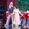 "Mark Maynard | for The Herald Bulletin<br /> The Nutcracker (David Reuille) rescues Claire (Natahalie Boyle) from the battle between wooden soldiers and giant mice in the Anderson Young Ballet Theatre's presentation of ""The Nutcracker"" ballet."