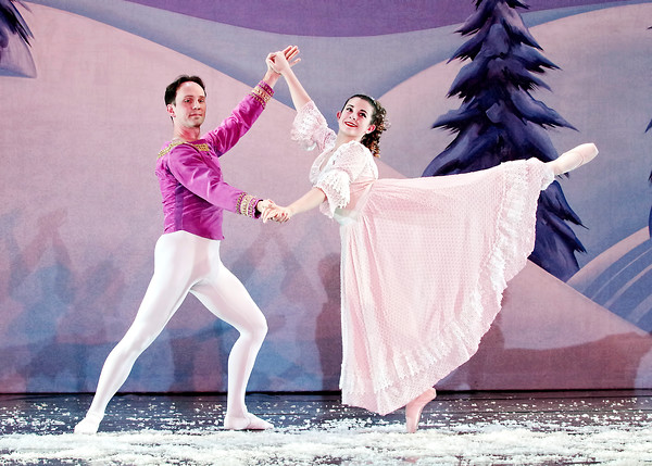 "Mark Maynard | for The Herald Bulletin<br /> David Reuille and Natahalie Boyle dance the lead roles of the Nutcracker and Claire in Anderson Young Ballet Theatre's annual Christmas presentation of ""The Nutcracker"" at the Paramount Theatre."