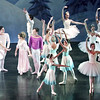 "Mark Maynard | for The Herald Bulletin<br /> The Snow  Queen welcomes Claire to the Land of Snow as Snowflakes dance about them in ""The Nutcracker."""