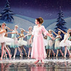 "Mark Maynard | for The Herald Bulletin<br /> Claire (Natahalie Boyle) is surrounded by dancing Snowflakes in the Land of Snow during ""The Nutcracker"" ballet."