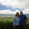 Catherine and I standing on the edge of the Ngorongoro crater