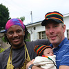 Frank, Tony and myself in a Rasta hat.