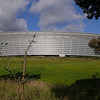 """<a href=""""http://en.wikipedia.org/wiki/Cape_Town_Stadium"""">Cape Town Stadium</a>, built for the 2010 World Cup."""