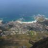 Camps Bay from Table Mountain.