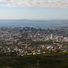 Cape Town harbour and City centre.