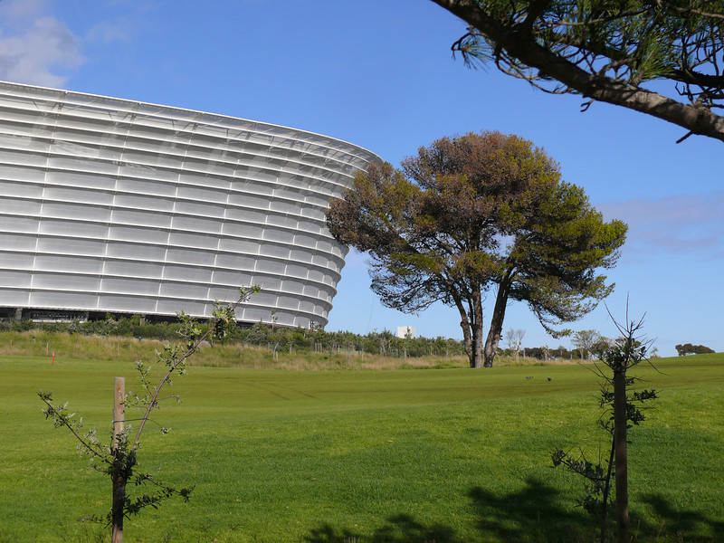 "<a href=""http://en.wikipedia.org/wiki/Cape_Town_Stadium"">Cape Town Stadium</a>, built for the 2010 World Cup."