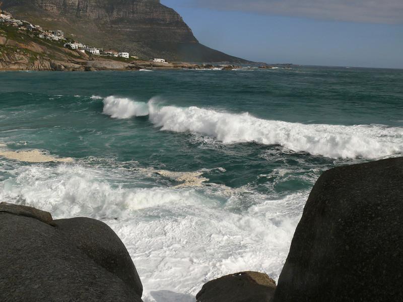 Llandudno Bay waves.