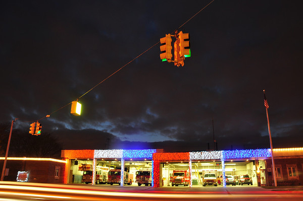 Allen Park Fire Department-Christmas light decorations
