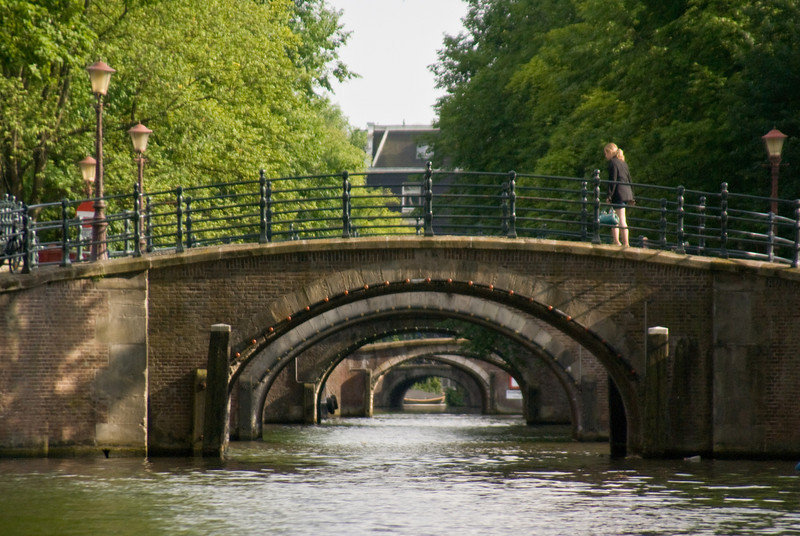 The many bridges of Amsterdam.