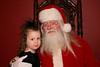 Ava with Santa.