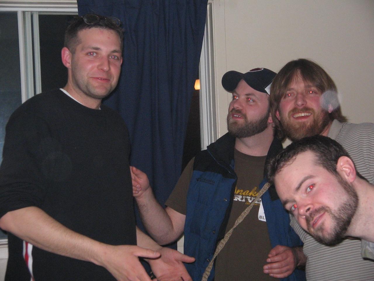 Gren, Peter, Matt and Peter at Big Trev's Place