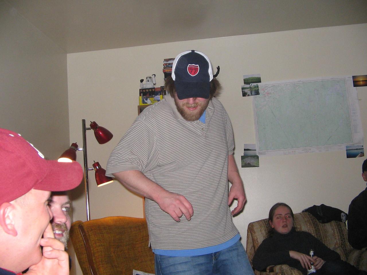 Matt Kennedy dancing at Big Trev's Place