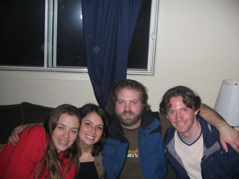 Dawn, Peter, Geoff and I at Big Trev's Place