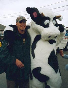 Bud and a cow at the Parade