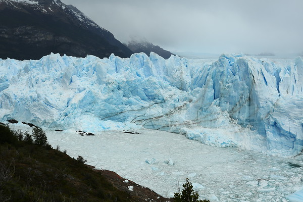 During summer you can see parts of glacier collapsing which will be replaced in winter.