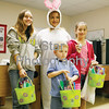 "Photo by Eveleigh Stewart<br /> The Easter Bunny gave a special easter basket to the one lucky finder of the ""golden egg"" in each age group. Deanna Hall, age 11; Ayden Arnett, age 4; and Ashley Hodges, age 10"