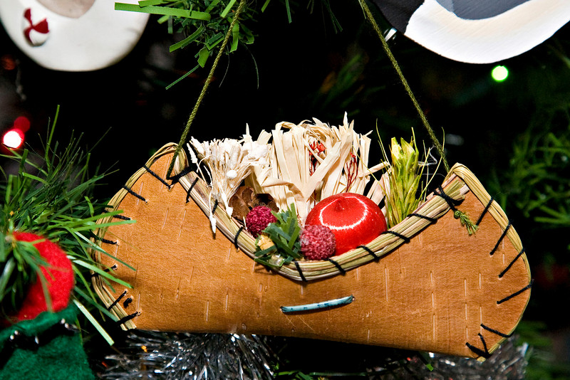 christmas ornament: canoe