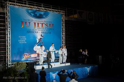 Podium plaats (2de) Luis Truyen, met Zilver. Jiu-Jitsu Athene 2015