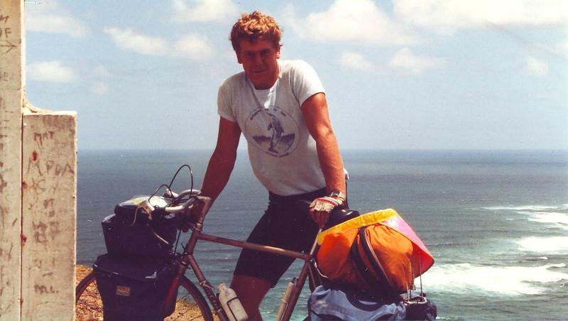 Cape Reinga Posing with bike