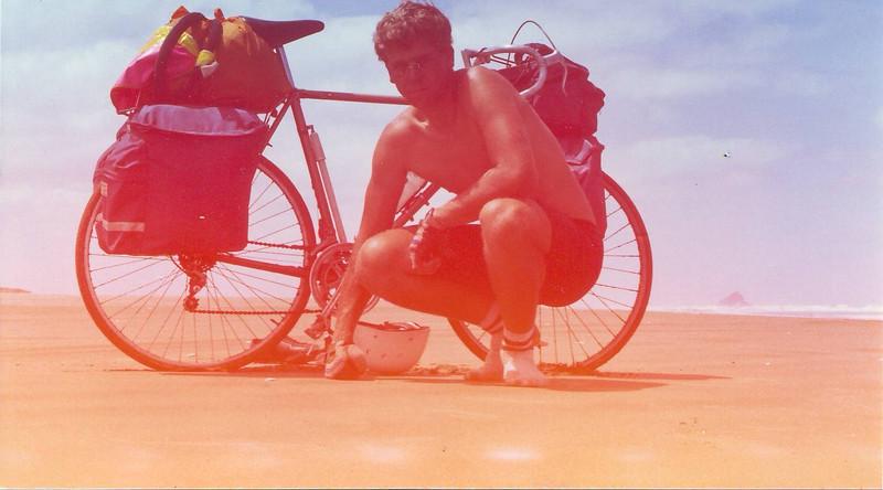 Self portrait Ninety Mile Beach Jul 1983