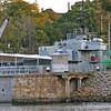 HMAS Diamantina in the drydock at the Maritime Museum