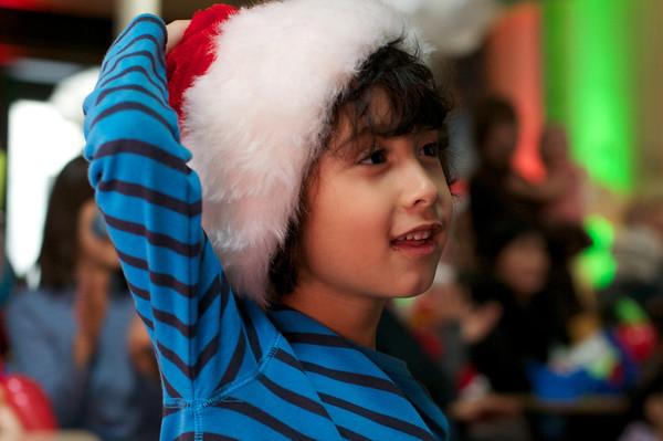 Jaden's Santa's here smile