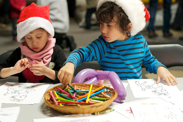 The kids loved the arts table