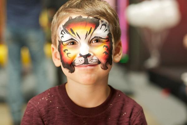 Nicolas' gorgeous face painting