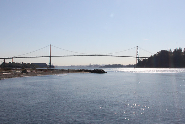 Lions Gate Bridge from the west.<br /> 3 October 2012