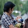 Proud father. Thimphu.