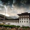 Tashichho Dzong- Exterior shot.
