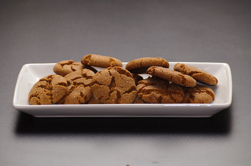 Some of the results.  These are my mom's ginger cookies.