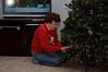 Grandma decorating the tree