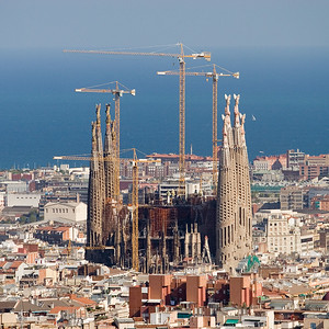 Barcelona 2006. Sagrada Familia. View from Parc Guell.