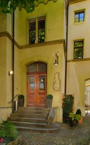 Entrance to the hotel where I stayed, Basel, Switzerland