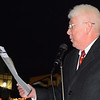 Debbie Blank | The Herald-Tribune<br /> Mayor Mike Bettice kept the Batesville Community Tree Lighting moving along. He announced Deck Your House competitors, thanked participating organizations and welcomed Santa Claus to the city.