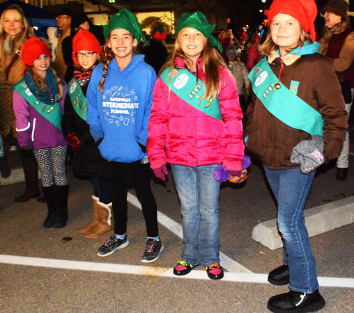 Debbie Blank | The Herald-Tribune<br /> Girl Scouts ages 9-11 in Troop 3187 celebrate the season.