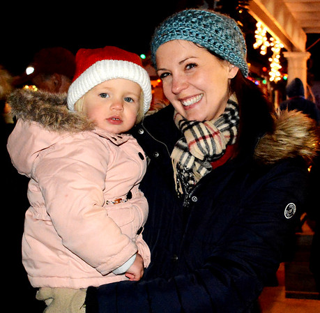Debbie Blank | The Herald-Tribune The Batesville Community Tree Lighting dazzled many families, including Kathy Beckner, Batesville, and daughter Zoey, 2. The Dec. 1 event was sponsored by the city of Batesville, Batesville Main Street, Batesville Area Chamber of Commerce, Batesville Beautification League and Mayor's Youth Council.