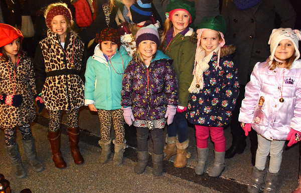 Debbie Blank | The Herald-Tribune<br /> Batesville kindergartners who belong to Girl Scout Daisy Troop 03013 are happy to be at the community event.