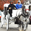 Debbie Blank | The Herald-Tribune<br /> Of course, Santa arrived last in the procession in a horse-drawn carriage.