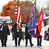 Debbie Blank | The Herald-Tribune<br /> As is customary, a police car and the Batesville Veterans of Foreign Wars Post 3183 color guard opened the Batesville Area Chamber of Commerce Holiday Parade Saturday, Nov. 19. Ryan Tekulve was in his 14th and final year as parade chairman.